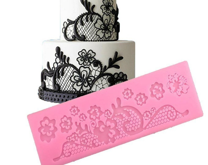 Flower Lace Silicone Mold - A011 Baking Fondant Soap Chocolate Candy Jelly Magical Eyes Ears Horn
