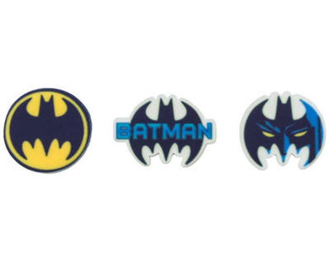 SALE Batman 12 pc SUGARSOFT Edible Printed Decorations - Molded Sugar SugarSoft Cake / Cupcake Topper Decorations