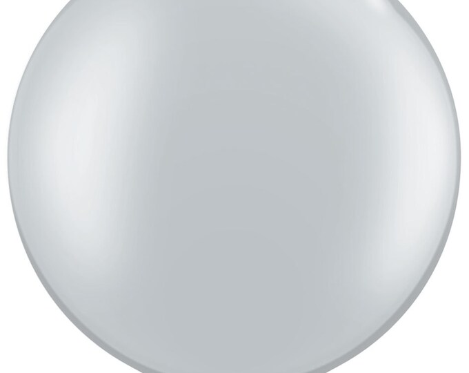 36 inch SILVER balloon - perfect for wedding baby shower bridal shower photo shoot