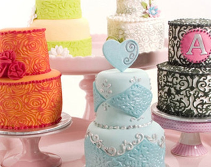 6pc Floral Lace Texture Cake Design Pattern Mat - Silicone Cake Mold Baking Chocolate