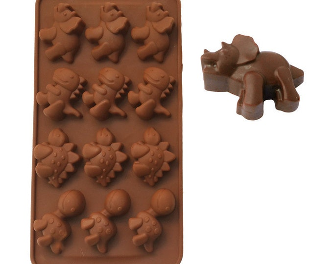 Chocolate Dinosaur Silicone Mold - LSL-056 - Chocolate Baking Soap Fondant Ice Cube Tray