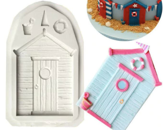 Beach House Door Silicone Mold - CB437 - Baking Fondant Happy Birthday Party Wedding Cake Bridal Nautical Lifesaver Ball