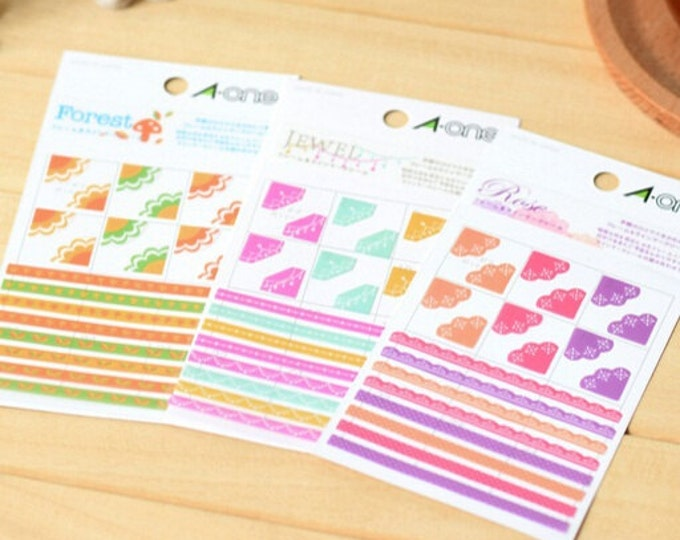 SALE 12 packs Vintage Lace Corner Stickers - Agenda Planner Stickers