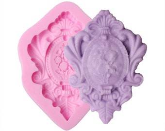 Vintage Style Frame Silicone Mold - C1965 - Baking Fondant Candy Royal Icing Soap Chocolate