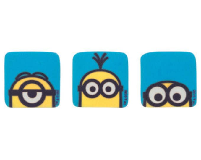 Minions 12 pc SUGARSOFT Edible Printed Cake / Cupcake Topper Decorations