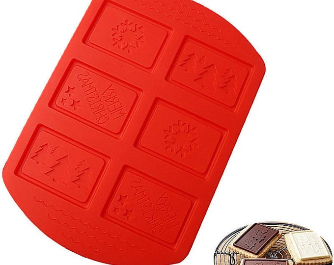 Holiday Christmas Chocolate Silicone Mold -  Baking Fondant Candy Royal Icing