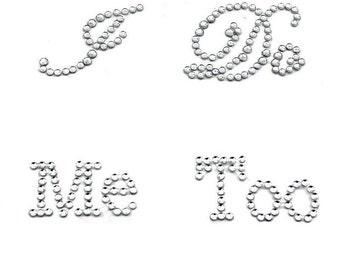 I DO + ME TOO Rhinestone Shoe Stickers - Wedding Shoe Applique 6ca8207367f6