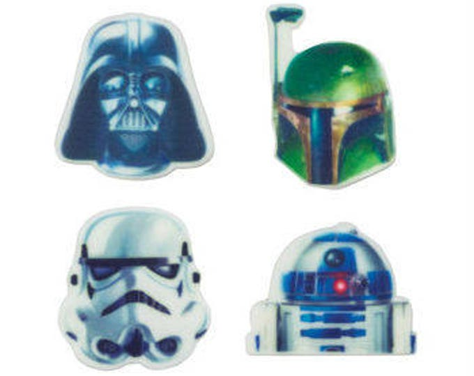 Star Wars 12 pc SUGARSOFT Edible Printed Cake / Cupcake Topper Decorations