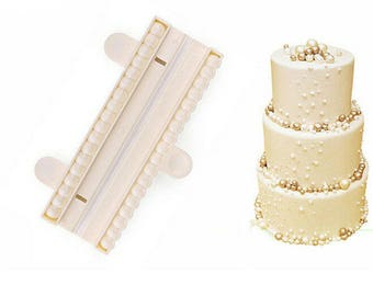 1pc Pearl Chain Bead Ball Candy Mold Maker Set - C-1215 - Cutter Plunger Candy Fondant