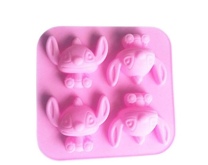 3D Stitch Silicone  Mold - E-234 - Baking Fondant Candy Royal Icing Ice Soap Lilo