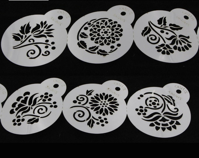 6 pc Flower Stencil Set - GS2753