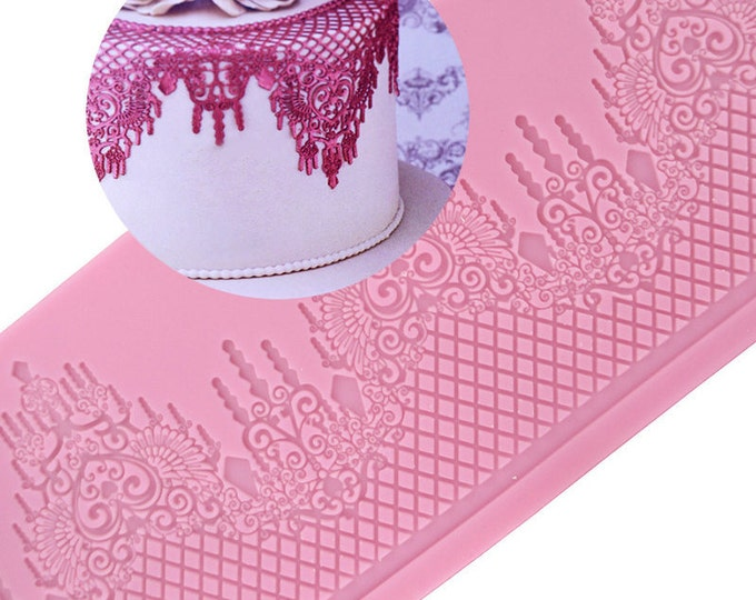 Roman Lace Mat Silicone Mold - GX-147 - Baking Fondant Wedding Cake Decorating Tools