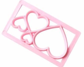 Heart Love Geometric Shape Cutter - P101 - Banner Streamer Mold Party Biscuit Gumpaste Fondant Sugarcraft Sugar Cutter Stars Hearts Shine