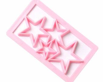 Star Geometric Shape Cutter - P102 - Banner Streamer Mold Party Biscuit Gumpaste Fondant Sugarcraft Sugar Cutter Stars Hearts Shine