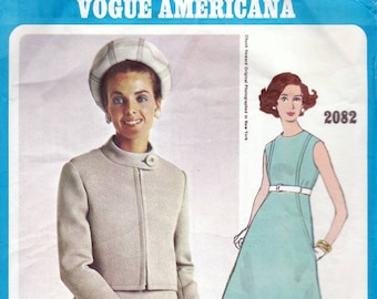 60s Vogue Wedding Dress And Jacket Sewing Pattern 4218