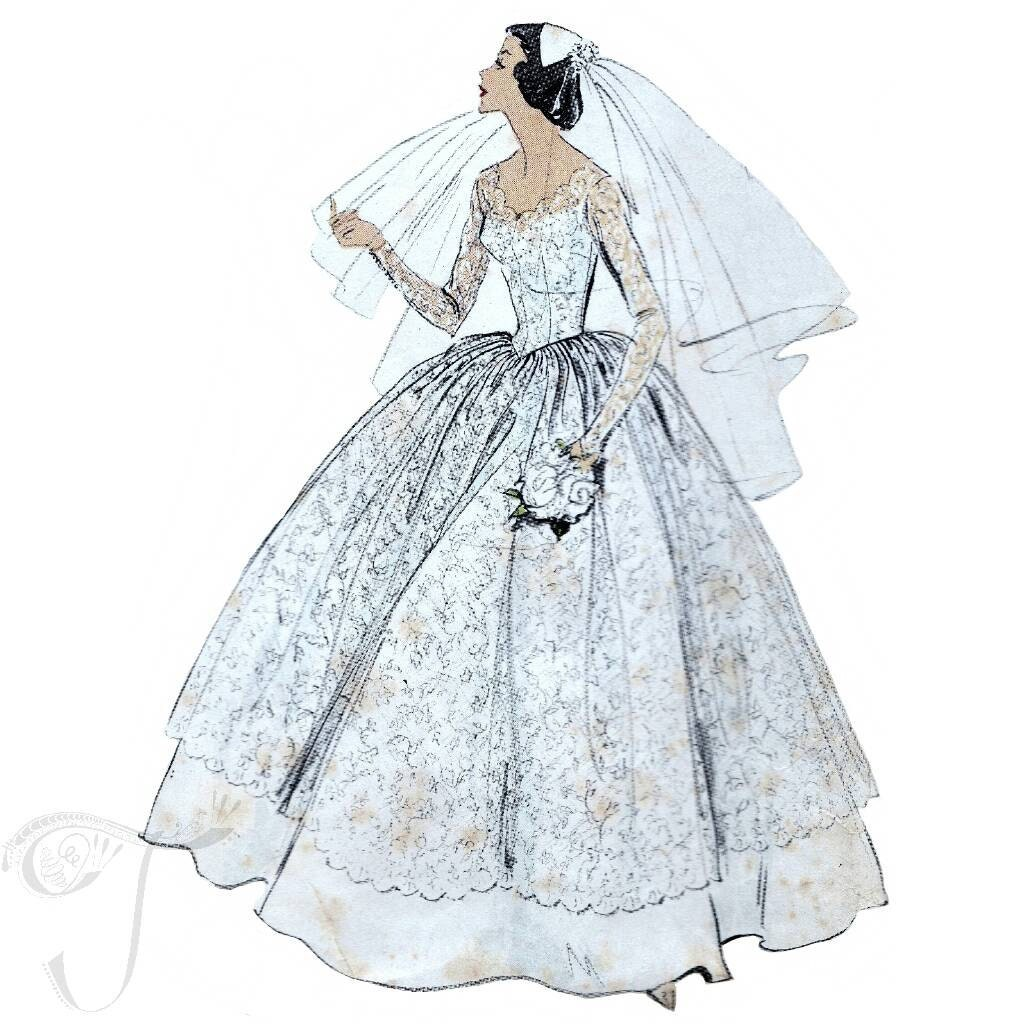 Nice Vogue Wedding Dress Sketch - All Wedding Dresses ...