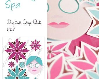 Pacific Beauty Spa Clipart PDF