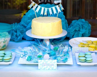 Twisting by the Pool Baby Shower Delux party printable pack