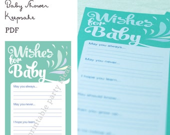 Wishes for Baby, Shower Game - Keepsake