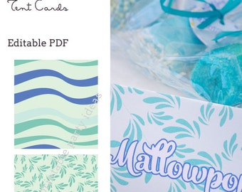 Twisting by the Pool Tent Cards - editable PDF - add your own text