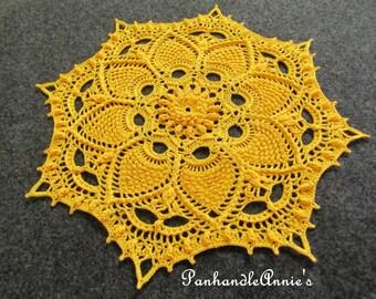 Handmade Textured Prickly Pineapple Doily