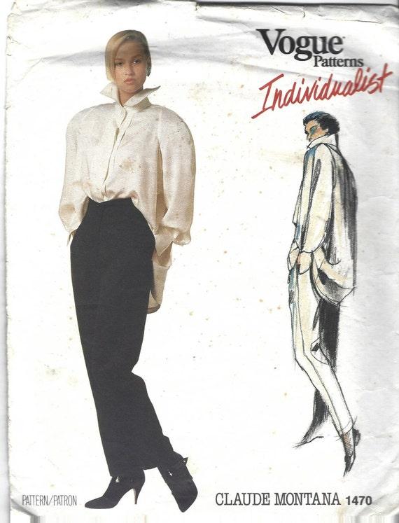 Vogue Paris Original Suit Pattern Vintage Sewing Pattern UK Size 12 Pattern Claude Montana Vogue 1698 Out Of Print 1990s Fashion