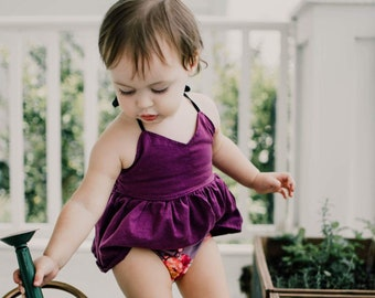 Plum Peplum, berry, purple, baby girl, girl top, shirt, boutique, newborn, coming home outfit