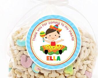 Fiesta Birthday Stickers, Favor Tags, Happy Birthday Stickers, Gift Tag, Favor Tag, Printable Favor Tags :No.418