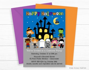 witch invitation halloween birthday invitation witch party etsy