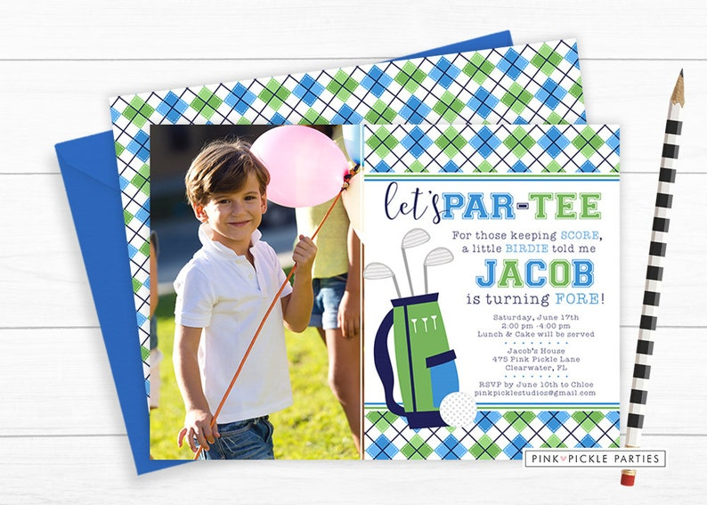 Golf Invitation Golf Birthday Invitation Golf Invitation image 0