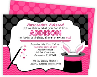 Magic Invitation, Magic Birthday Party, Magic Party Invitation, Magic Invite, Magician Birthday Party, Magic Party, Magic Birthday   93
