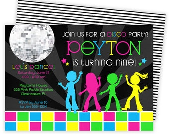 Disco Invitations, Dance Party, Disco Party Invitations, Dance Invitations, Dance Party Invitation, Disco Party, Disco Dance, Dance |325