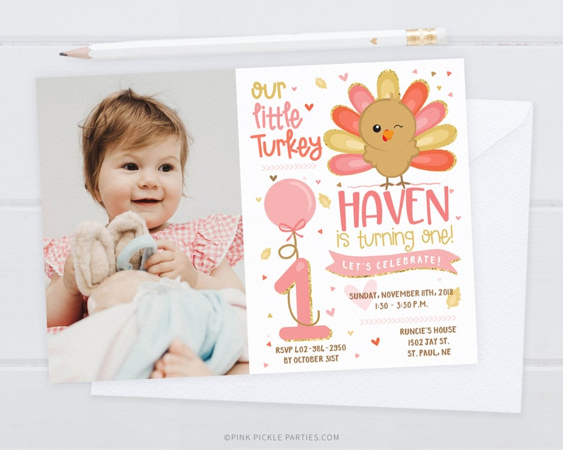 Our Little Turkey Invitation Our Little Turkey Photo image 0