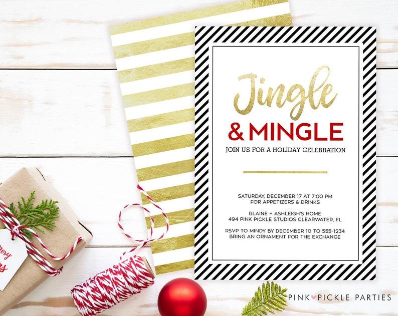 Jingle Mingle Invitation Jingle And Mingle Invitation Jingle image 0