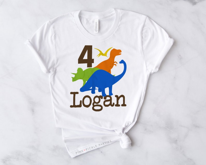 T Shirt Iron On Transfer  No.416 T Shirt Transfers Dinosaur Birthday Shirts Dinosaur Birthday Shirt Iron-on