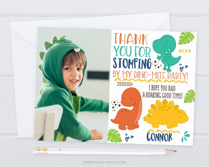 Dinosaur Thank You Cards Dinosaur Thank You Note Dino Thank image 0