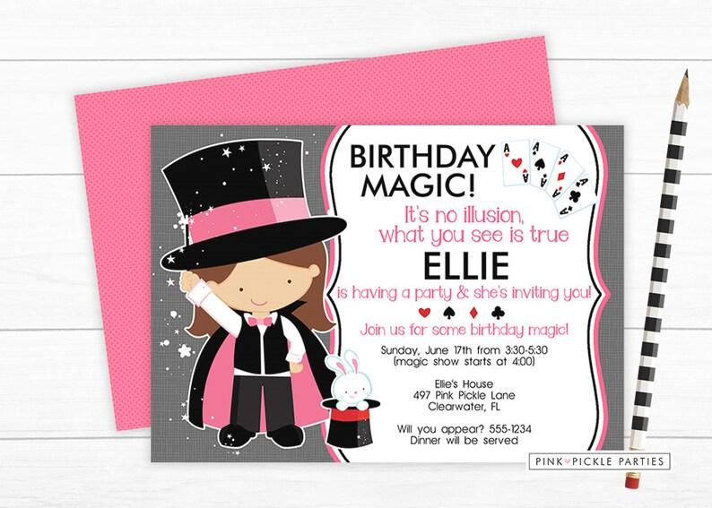Magic Invitation Magic Birthday Party Magic Party Etsy