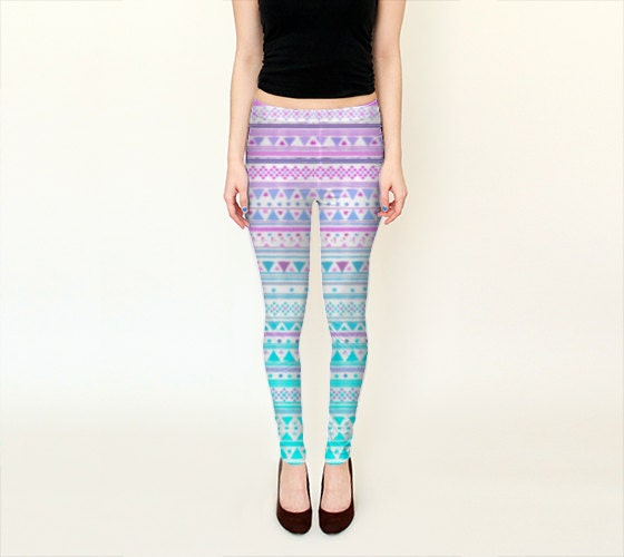 Beach Bandana Leggins // Yoga Pants Girly Ethnic Tribal