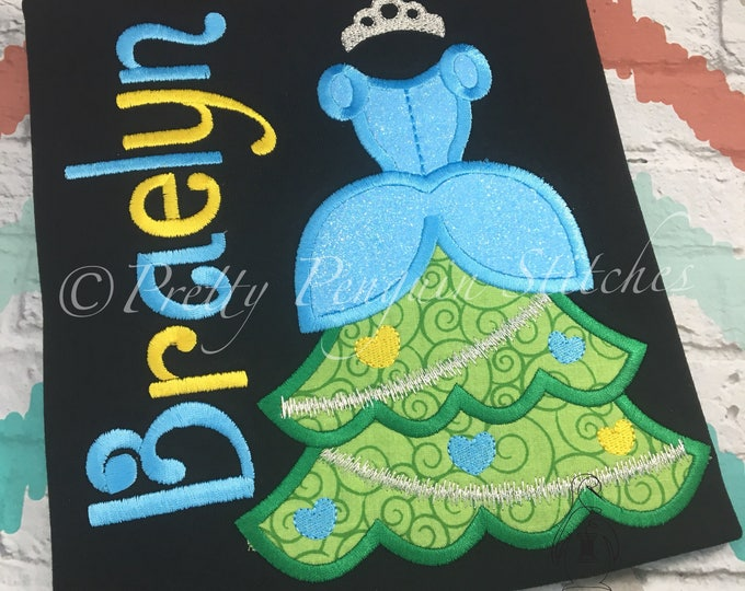 Princess Christmas Tree, Cinderella-Inspired Christmas Tree, Very Mickey Christmas, Family Vacation, Appliqued
