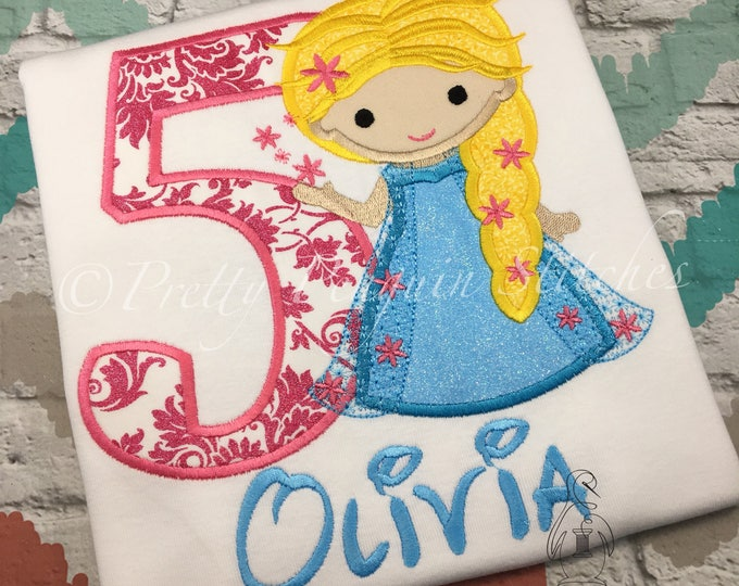 Elsa Cutie Birthday Shirt- Frozen Fever-Inspired- Spring queen- Family Vacation Shirt- Applique- Embroidered- Monogrammed