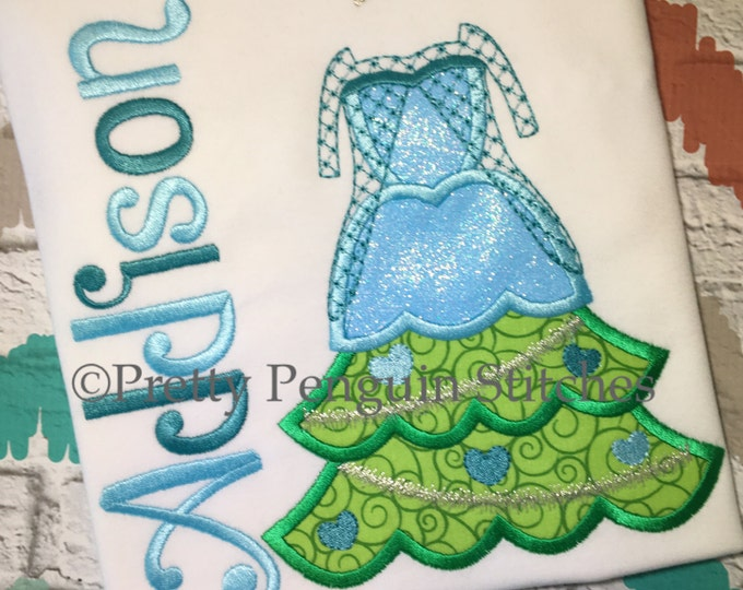Princess Christmas Tree, Elsa-Inspired Christmas Tree, Very Mickey Christmas, Family Vacation, Appliqued