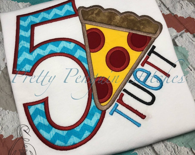 Pizza Party Birthday Shirt, Applique, Embroidery