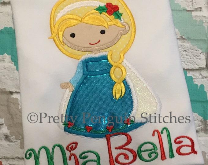 Christmas Princess Shirt, Elsa-Inspired Cutie, Holiday Princess Shirt, Personalized