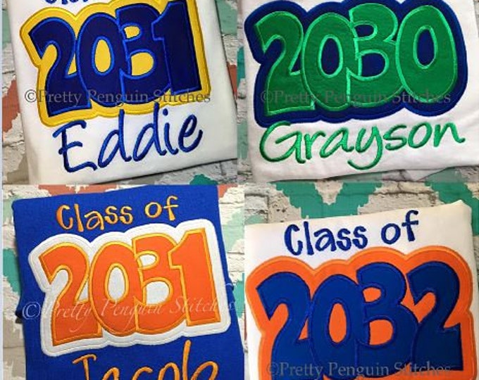 WATCH ME GROW- Class of Graduation Shirt- Design Your Own- First Day of School- Class of 2030, 2031, 2032, 2033- Over-sized Adult Shirt