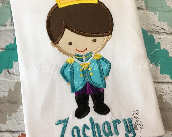 Prince Charming Cutie shirt- Cinderella Prince, boy prince, Family Vacation- applique shirt, monogrammed shirt
