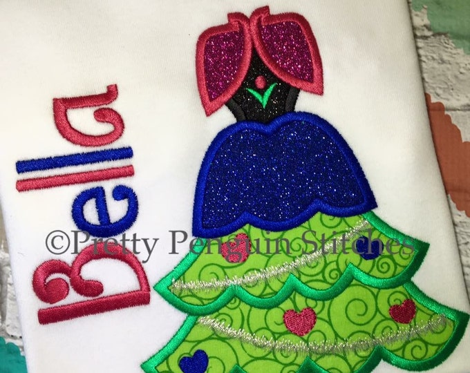 Princess Christmas Tree, Anna-Inspired Christmas Tree, Very Mickey Christmas, Family Vacation, Appliqued