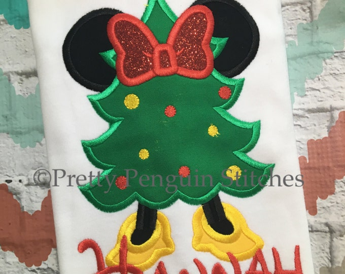 Mouse Christmas Tree, Minnie-Inspired Christmas Tree, Very Mickey Christmas, Family Vacation, Appliqued