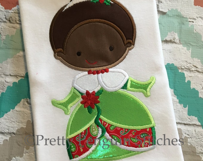 Christmas Princess Shirt, Tiana-Inspired Cutie, Holiday Princess Shirt, Personalized