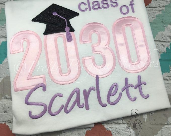 WATCH ME GROW- Class of Graduation Shirt- Ballet Pink, First Day of School- Class of 2030, 2031, 2032, 2033- Over-sized Adult Shirt