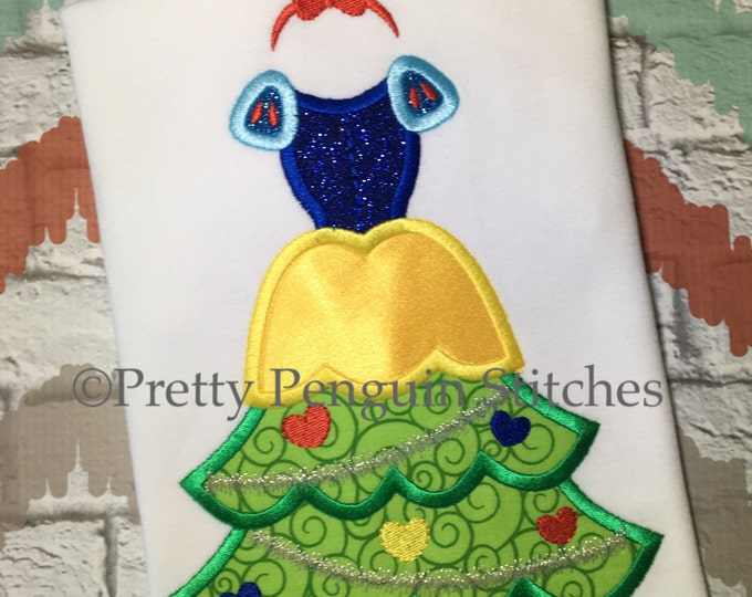 Princess Christmas Tree, Snow White-Inspired Christmas Tree, Very Mickey Christmas, Family Vacation, Appliqued